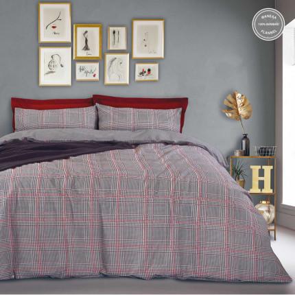 Παπλωματοθήκη Φανελένια Μονή (Σετ) 160X240 Das Home Happy Flannel 9493