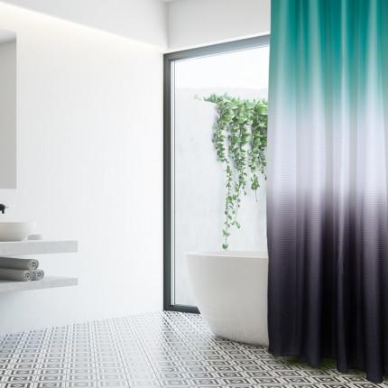 Κουρτίνα Μπάνιου 180x240 Das Home Bath Curtains 1079 Μεντα-Λευκο-Γκρι