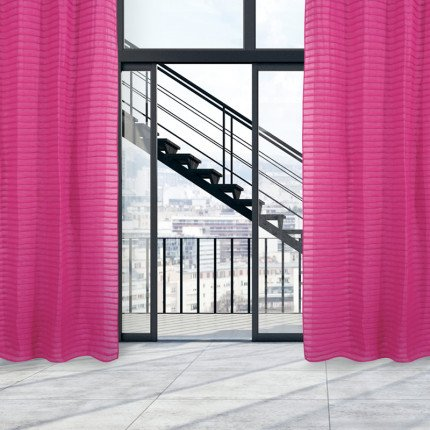 Κουρτίνα Με Τρουκς 140x260 Das Home Curtain 2084 Φουξια