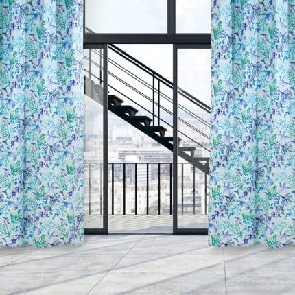 Κουρτίνα Με Τρουκς 140x260 Das Home Curtain 2102 Τυρκουαζ-Μπλε-Μεντα