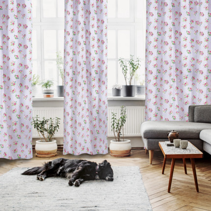 Κουρτίνα Με Τρουκς 140x260 Das Home Curtain 2103 Λιλα-Ροζ-Λαχανι