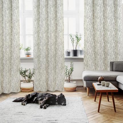 Κουρτίνα Με Τρουκς 140x260 Das Home Curtain 2114 Εκρου-Μπεζ-Γκρι