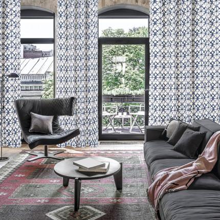 Κουρτίνα Με Τρουκς 140x260 Das Home Curtain 2116 Εκρου-Μπλε