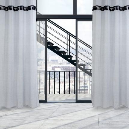 Κουρτίνα Με Τρουκς 140x260 Das Home Curtain 2150 Μπλε Ανοιχτο