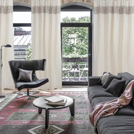 Κουρτίνα Με Τρουκς 140x260 Das Home Curtain 2153 Ιβουαρ