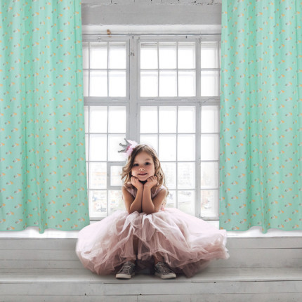 Κουρτίνα Με Τρουκς 140x260 Das Home Curtain 2158 Μεντα-Γκρι-Σωμων