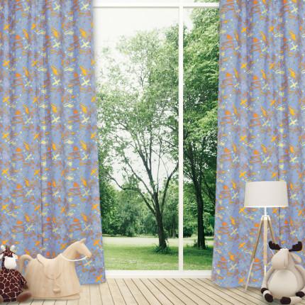 Κουρτίνα Με Τρουκς 140x260 Das Home Curtain 2160 Σιελ-Κιτρινο