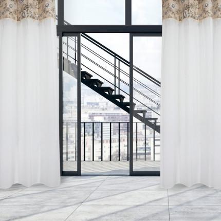 Κουρτίνα Με Τρουκς 140x260 Das Home Curtain 2163 Εκρου-Μπεζ