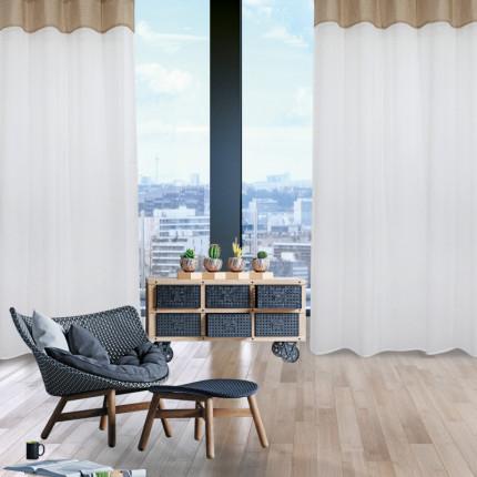Κουρτίνα Με Τρουκς 140x260 Das Home Curtain 2164 Εκρου-Μπεζ
