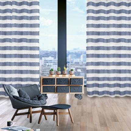 Κουρτίνα Με Τρουκς 140x260 Das Home Curtain 2169 Εκρου-Σιελ
