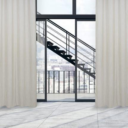 Κουρτίνα Με Τρουκς 140x260 Das Home Curtain 2176 Μπεζ-Εκρου
