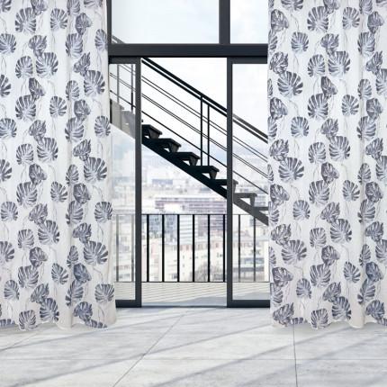 Κουρτίνα Με Τρουκς 140x260 Das Home Curtain 2177 Γκρι-Εκρου