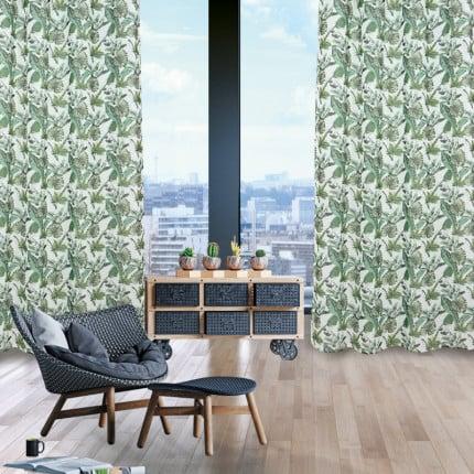 Κουρτίνα Με Τρουκς 140x260 Das Home Curtain 2178 Πρασινο-Εκρου