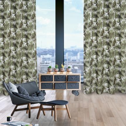 Κουρτίνα Με Τρουκς 140x260 Das Home Curtain 2179 Λαδι-Εκρου