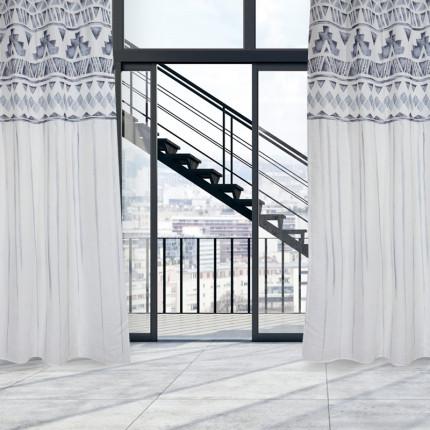 Κουρτίνα Με Τρουκς 140x260 Das Home Curtain 2183 Γκρι