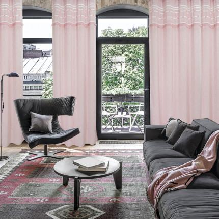 Κουρτίνα Με Τρουκς 140x260 Das Home Curtain 2185 Σαπιο Μηλο