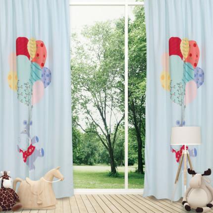 Κουρτίνα Με Θηλιές 140x260 Das Home Smile 6457 Μεντα