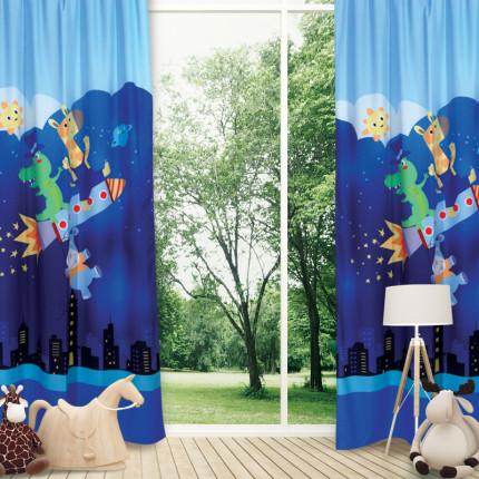 Κουρτίνα Με Θηλιές 140x260 Das Home Smile 6460 Σιελ-Μπλε