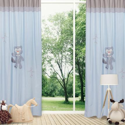 Κουρτίνα Με Θηλιές 140x260 Das Home Smile 6462 Σιελ-Γκρι