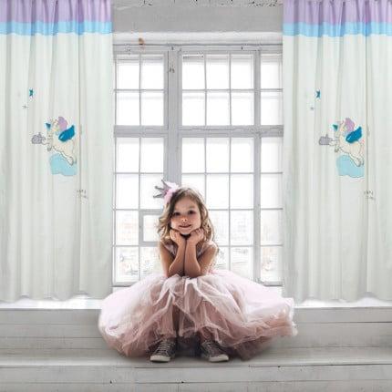 Κουρτίνα Με Τρουκς 140x260 Das Home Smile 6463 Κρεμ-Ροζ