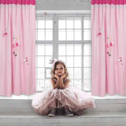 Κουρτίνα Με Τρουκς 140x260 Das Home Smile 6464 Ροζ