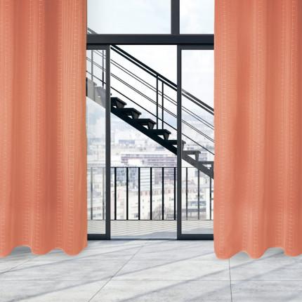 Κουρτίνα Με Τρουκς 140x280 Das Home Curtain 2015 Πορτοκαλι