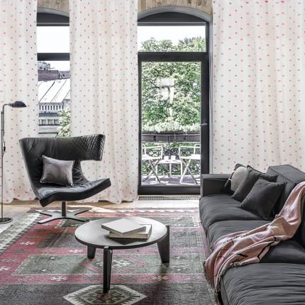 Κουρτίνα Με Τρέσα 140x280 Das Home Curtain 2042 Εκρου-Κοκκινο