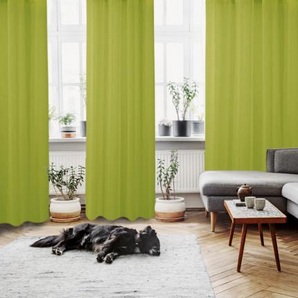 Κουρτίνα Με Τρουκς 140x280 Das Home Curtain 2046 Λαχανι