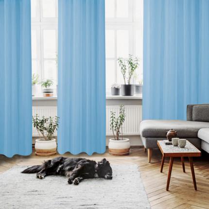 Κουρτίνα Με Τρουκς 140x280 Das Home Curtain 2048 Γαλαζιο