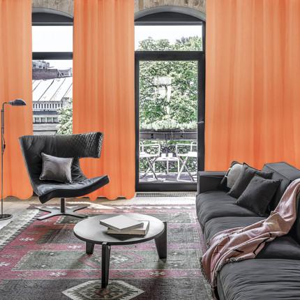 Κουρτίνα Με Τρουκς 140x280 Das Home Curtain 2049 Πορτοκαλι