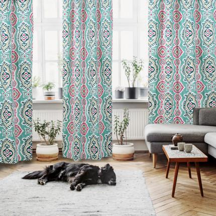 Κουρτίνα Με Τρουκς 140x280 Das Home Curtain 2055 Βεραμαν-Βυσσινι