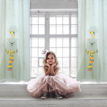 Κουρτίνα Με Τρουκς 140x280 Das Home Curtain 2066 Πρασινο-Κιτρινο