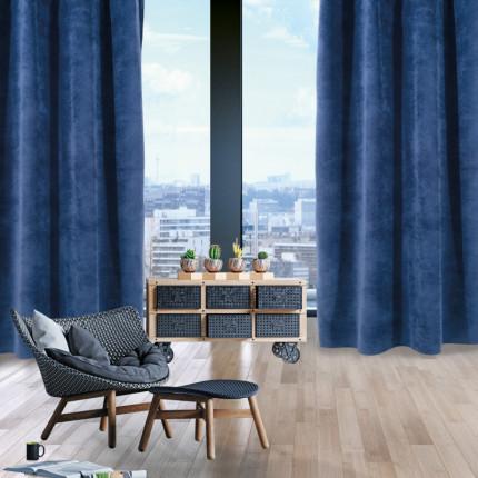 Κουρτίνα Με Τρουκς 140x280 Das Home Curtain 2072 Μπλε