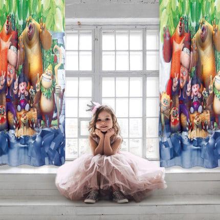 Κουρτίνα Με Τρουκς 140x280 Das Home Curtain 2123 Γκρι-Μπεζ-Καφε-Πρασινο