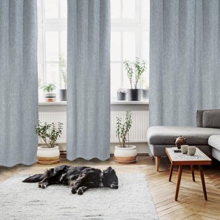 Κουρτίνα Με Τρουκς 140x280 Das Home Curtain 2130 Γκρι