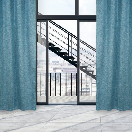 Κουρτίνα Με Τρουκς 140x280 Das Home Curtain 2132 Μπλε
