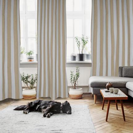 Κουρτίνα Με Τρουκς 140x280 Das Home Curtain 2156 Λευκο-Μπεζ