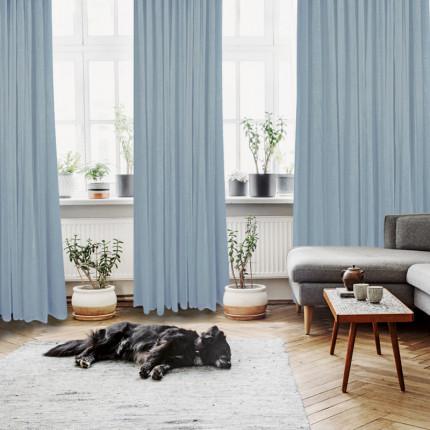 Κουρτίνα Με Τρουκς 450x260 Das Home Curtain 2182 Σιελ