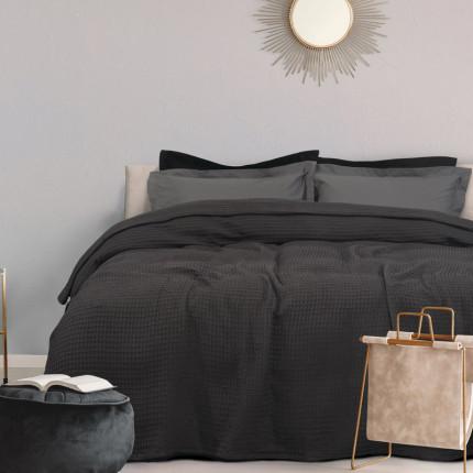 Κουβέρτα Πικέ Μονή 170X250 Das Home Blankets Summer 0439 Γκρι