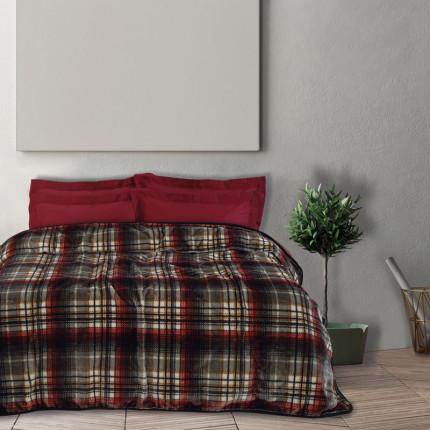 Κουβέρτα Βελουτέ Μονή 160X220 Das Home Blankets Winter 0451