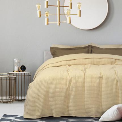 Κουβέρτα Πικέ Υπέρδιπλη 230X250 Das Home Blankets Summer 0434 Εκρου