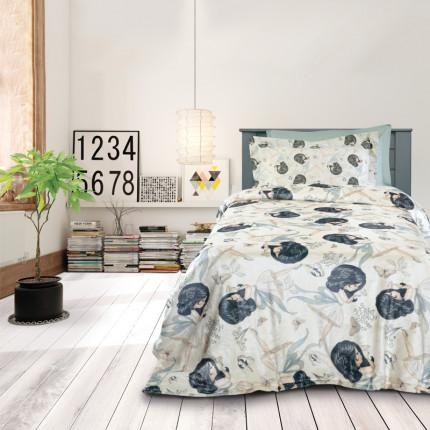 Κουβέρτα Fleece Μονή 160x220 Das Home Kid 4705 Εκρου-Γκρι