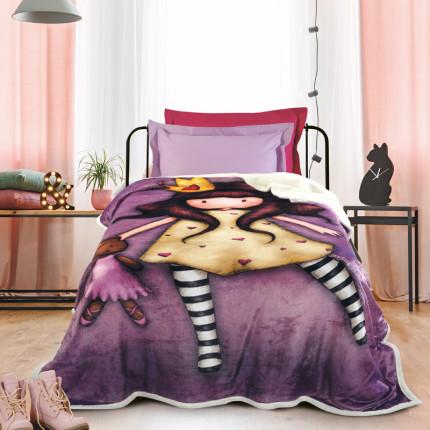 Κουβέρτα Fleece Μονή 160x220 Das Home Cartoon 5021 Μωβ