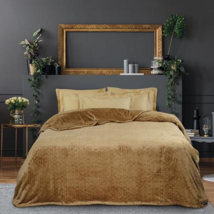 Κουβέρτα Fleece Υπέρδιπλη 220x240 Das Home Blankets Winter 0427 Bronze