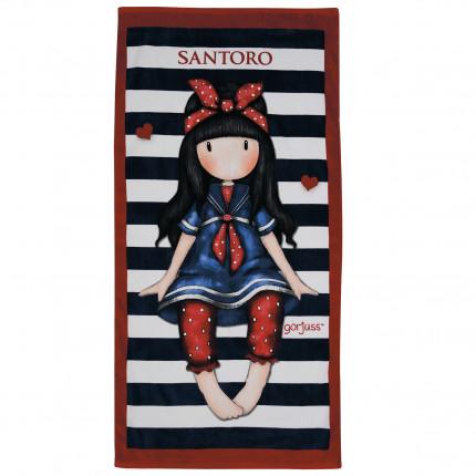 Παιδική Πετσέτα Θαλάσσης 75x150 Das Home Beach Towel Cartoon 5810 Μαυρο-Κοκκινο