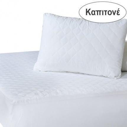 Επίστρωμα Καπιτονέ Υπέρδιπλο 160X200+35 Das Home Comfort Mattress Protectors 1088 Λευκό Με Λάστιχο