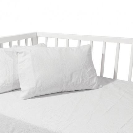 Αδιάβροχο Επίστρωμα Κούνιας 70x140+15 Das Home Relax 1061 Λευκο Με Λάστιχο