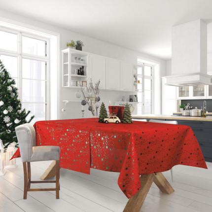 Χριστουγεννιάτικο Τραπεζομάντηλο 140x180 Das Home Christmas 0574 Κοκκινο-Πρασινο