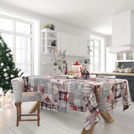 Χριστουγεννιάτικη Τραβέρσα 50x140 Das Home Christmas 0571 Γκρι - Κοκκινο