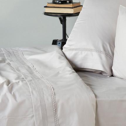 Νυφικό Κουβερλί (Σετ) Υπέρδιπλο 230X250 Kentia Serenity Bernadine 22 Λευκό